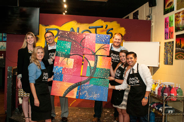 Corporate Team Building Events at Pinots Palette Bay Shore