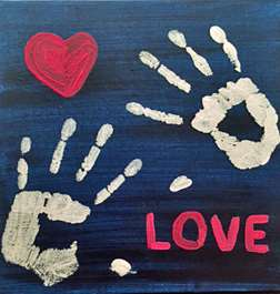 A Gift of Love-Hand Print Canvas Keepsake