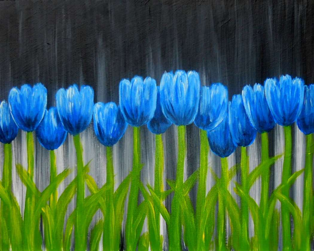 Pinot s palette sun may 11 2014 3 00 5 00pm tulips in blue