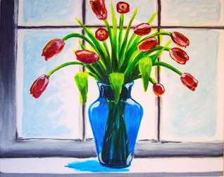 Tulips in Red