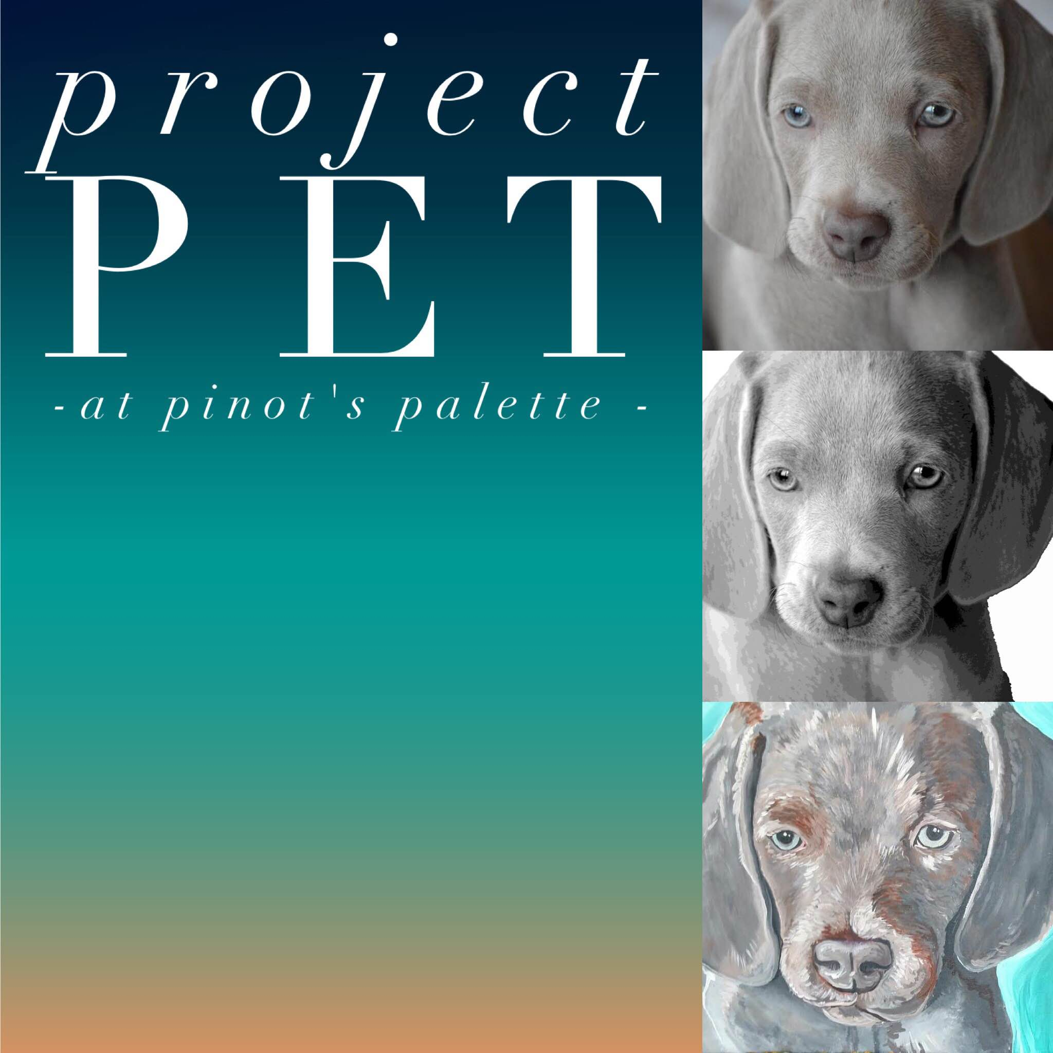 Painting your pet is as easy as 1, 2, 3!