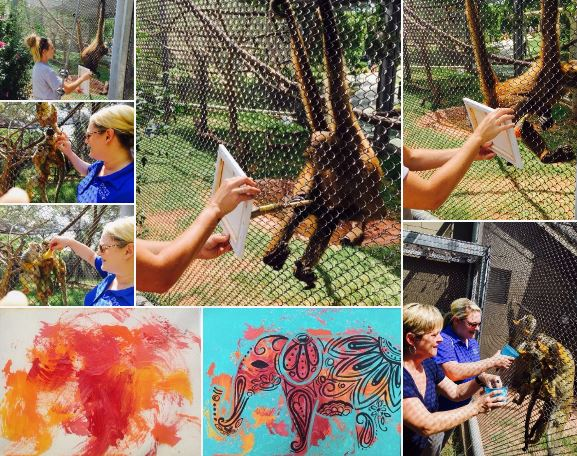 painting with monkeys