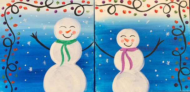 Mommy and Me Snowmen