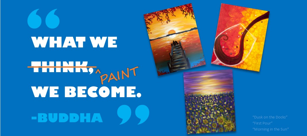 paint party, girl's night out, family party, wine night, painting and wine