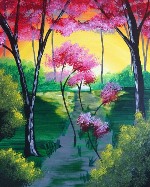 pinot's palette tree painting