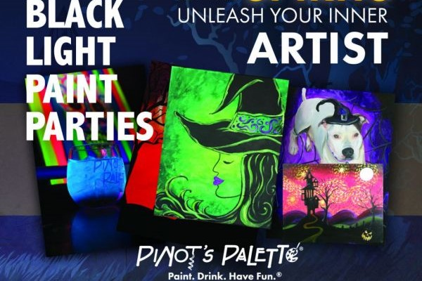 pinot's palette black light paint and sip party kid child birthday parties
