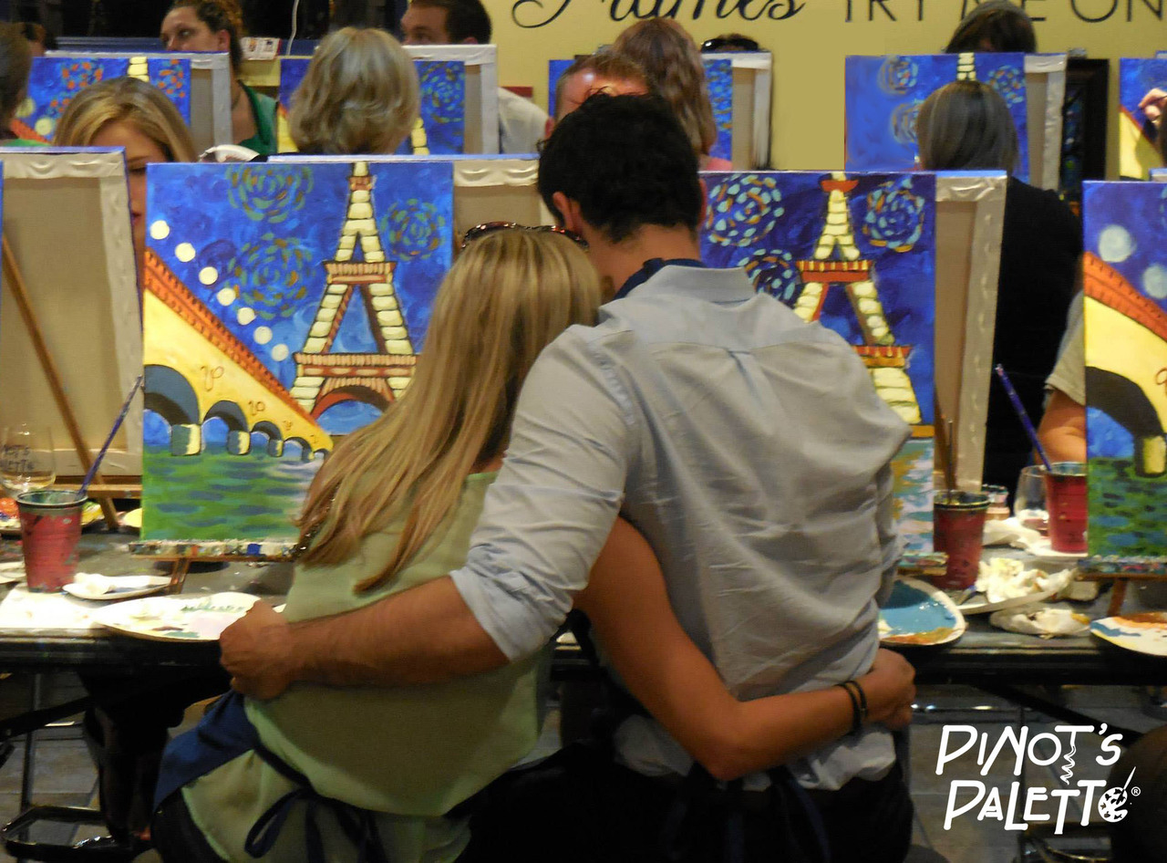 Pinot's Palette Couple Painting