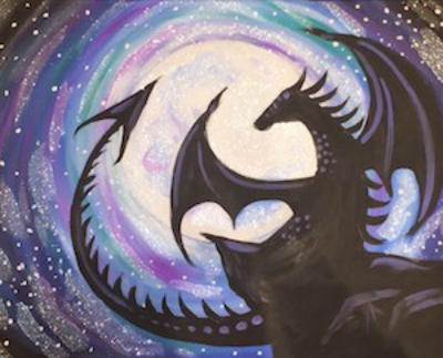 Game of Dragons Paint and Sip Parties Naperville