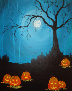pinot's palette paint and sip party halloween how to last minute moonlight mischief
