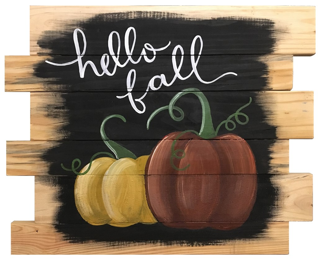Welcome Fall with this fun wooden pallet painting!