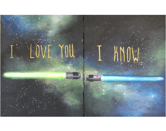 I'll be Han and you be Leia