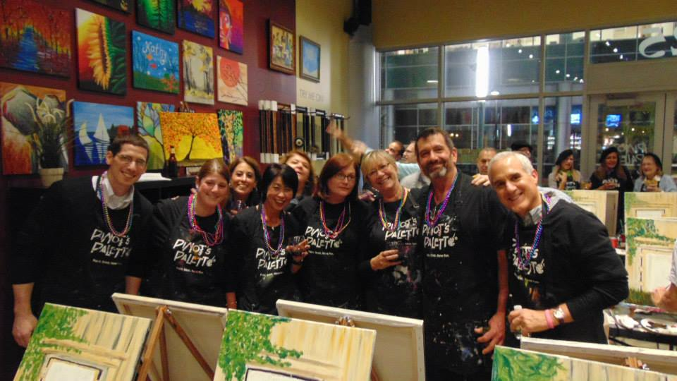 Team Building Events at Pinot's Palette
