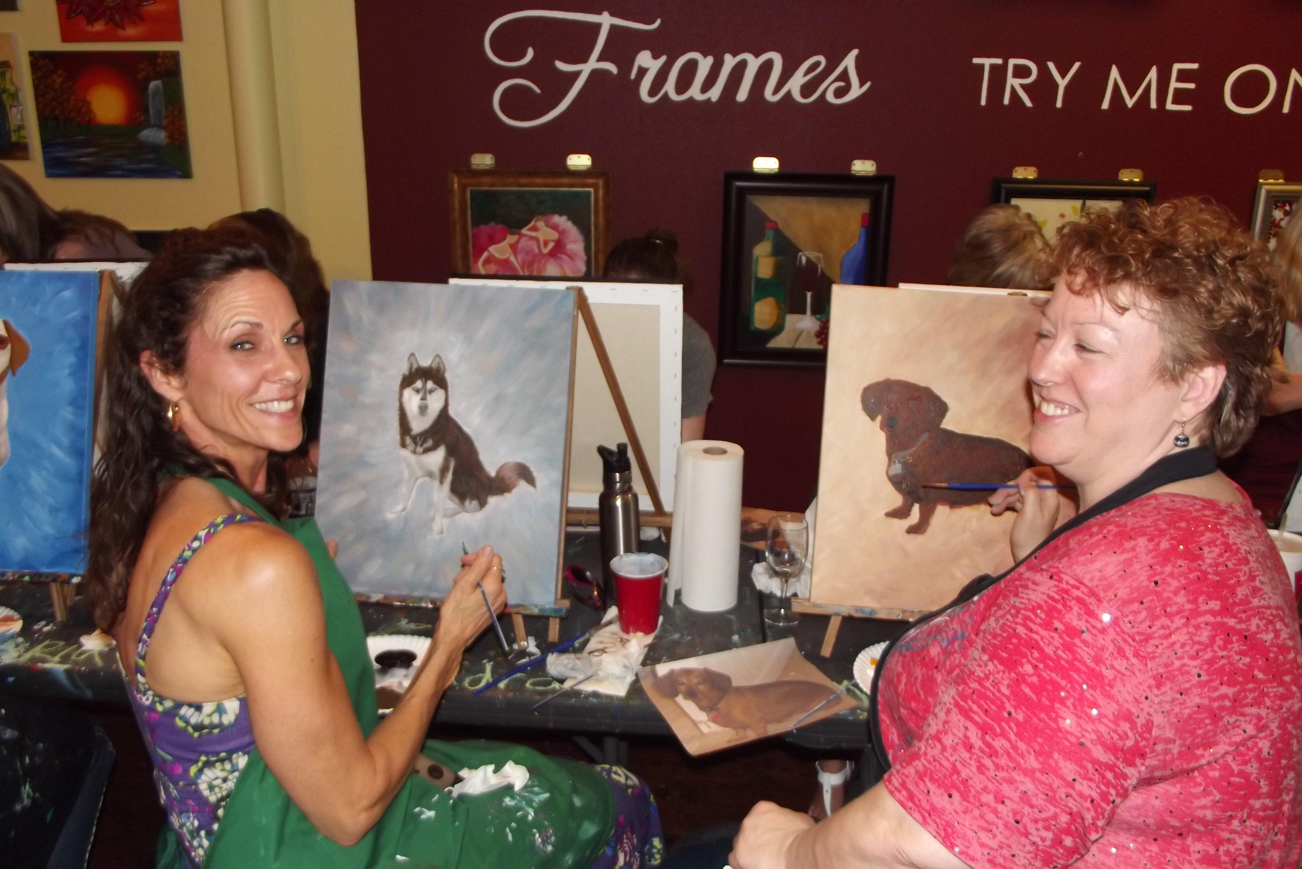 Pinots Palette, Paint and Sip, Date Night, Wine and Fun, Art, Project pet, paint Your pet