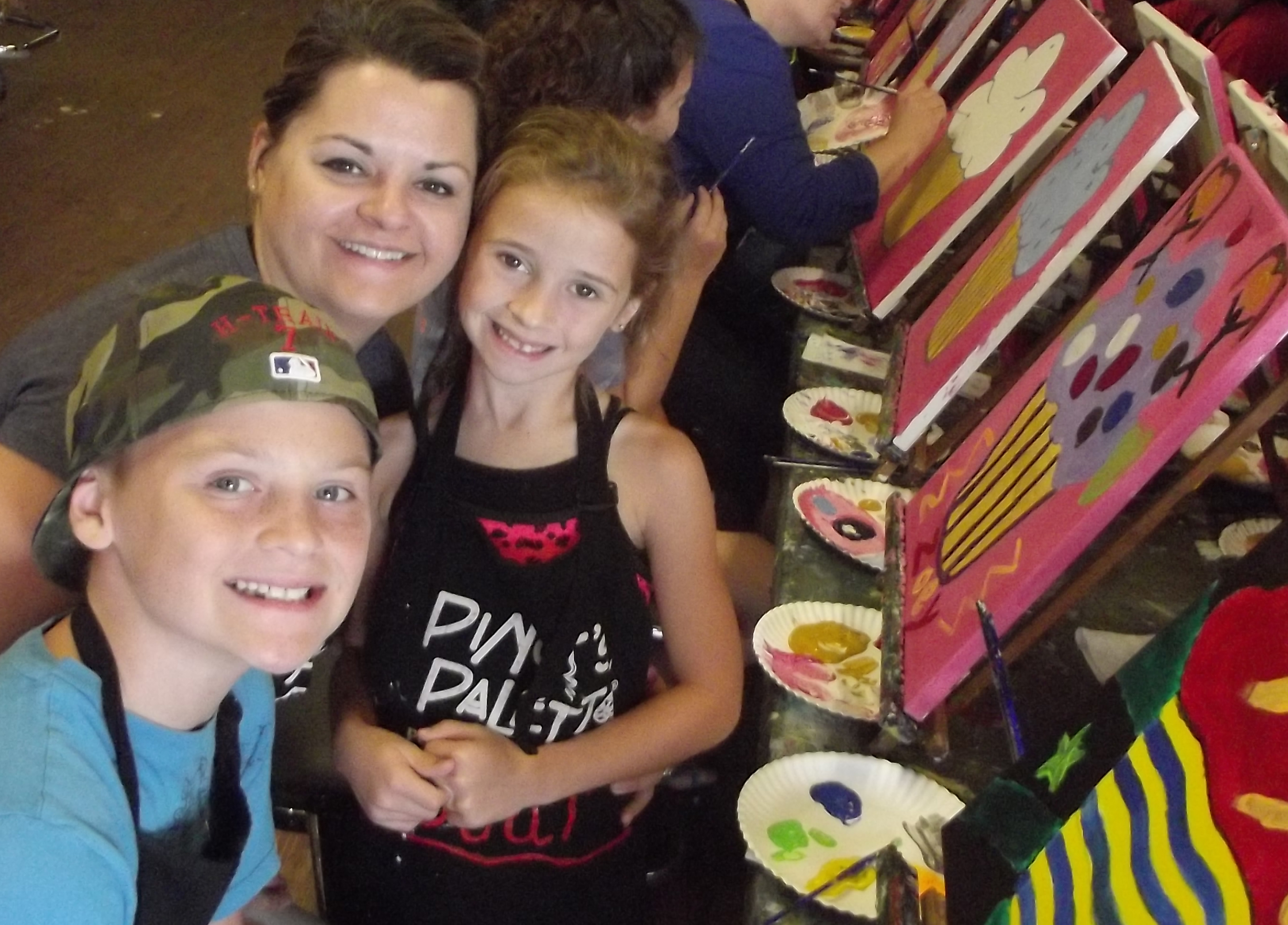 Family Fun Day, Pinot's Palette, Rainbow Butterfly, Flower Power, Fun Time