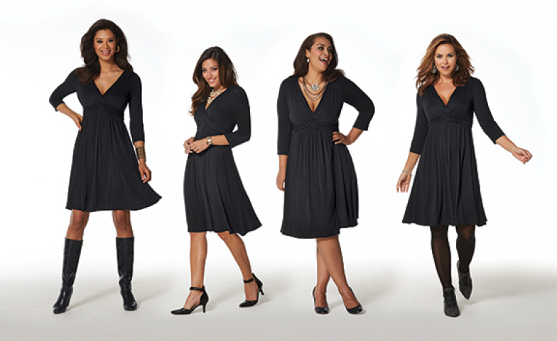 wrap dress on different shapes