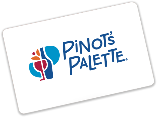 Pinot's Palette's gift card.