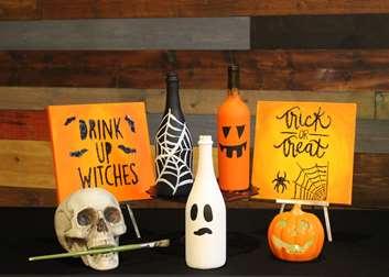 Happy Halloween Bottle Trio