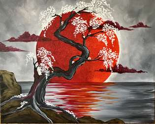 Japanese Crimson Moon