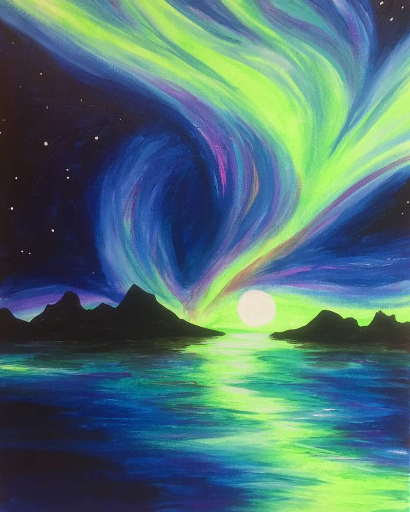Northern night lights thu sep 07 7pm at pinot 39 s palette for Lights for paintings