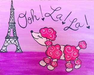 Poodle in Paris