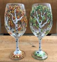 Refreshing Aspens:  Wine Glasses