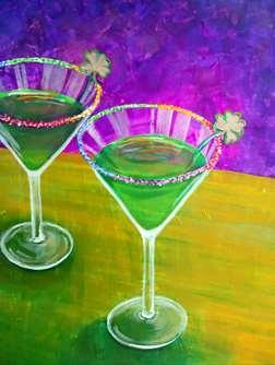 Shamrock Martinis