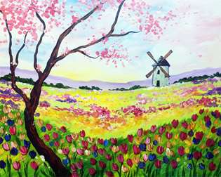 Tulips a la Van Gogh