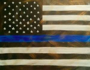 Vintage Police Flag