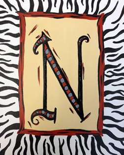 Zebra monogram mon dec 29 2pm at pinot 39 s palette for 300 riverwalk terrace jenks ok