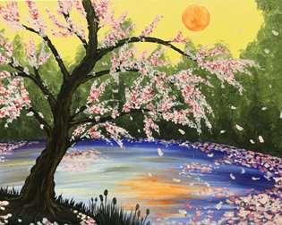 Zen Blossoms at Dusk